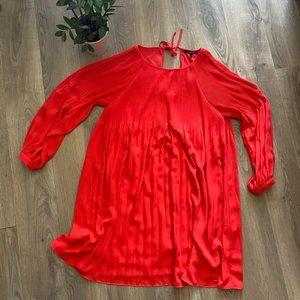 """Vero Moda Coral """"Cold Shoulder"""" Midi Dress"""